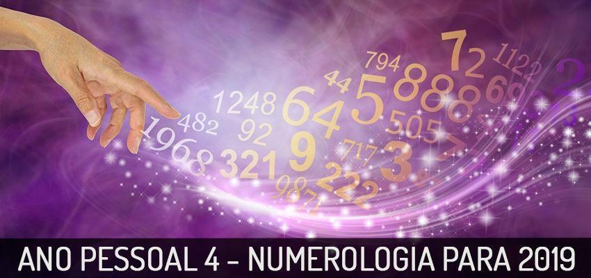 Ano Pessoal 4 na Numerologia 2019