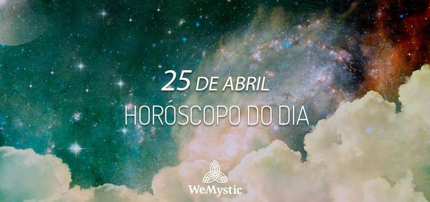 Horóscopo do dia 25 de Abril de 2019: previsões para esta quinta-feira