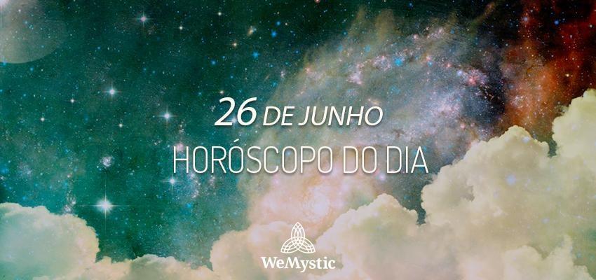 Horóscopo do dia 26 de Junho de 2019: previsões para esta quarta-feira