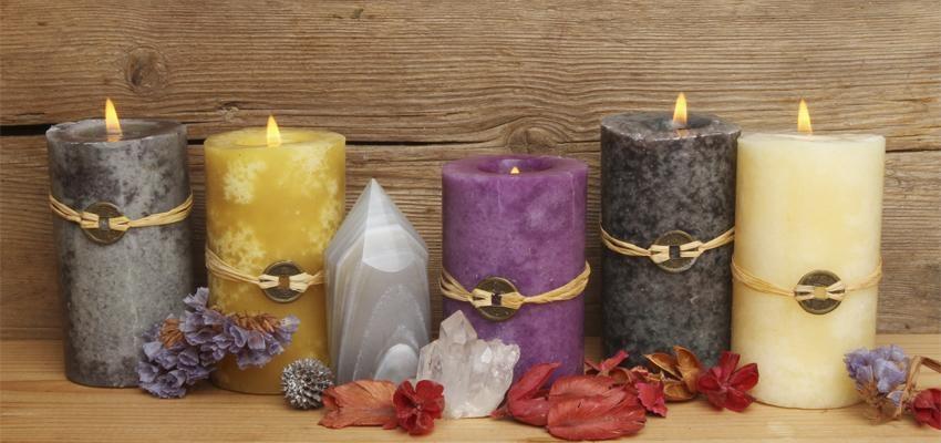 As velas do Feng Shui e os cinco elementos