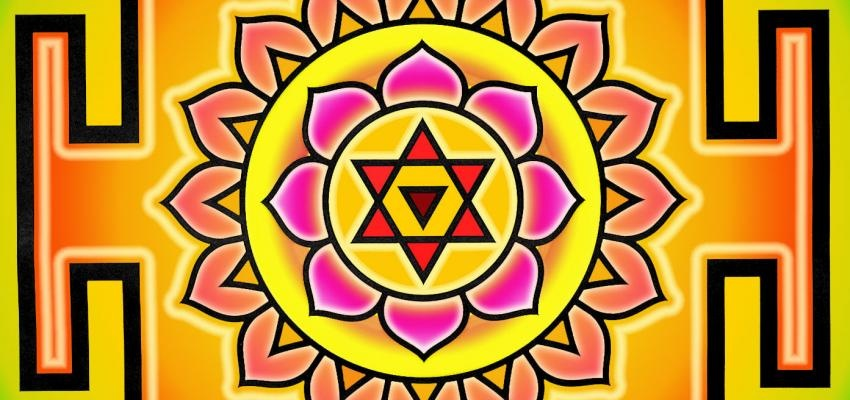 A paz atingida através do Sri Yantra
