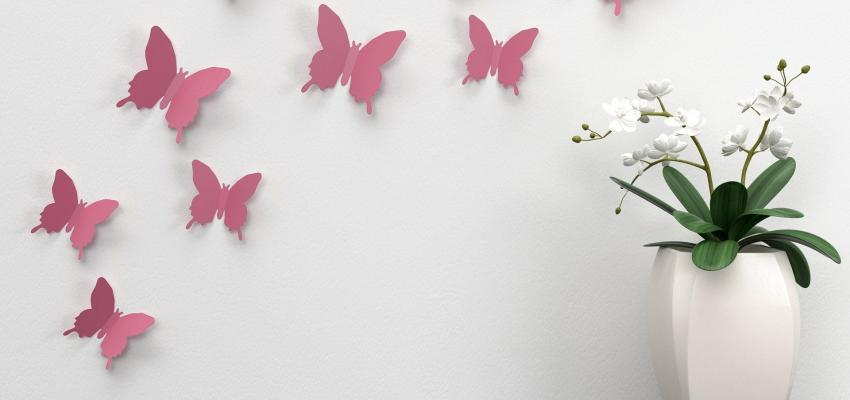 Como utilizar borboletas na decoração para atrair bom Feng Shui