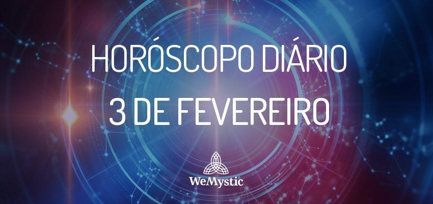 Horóscopo do dia 03 de Fevereiro de 2018: previsões para este sábado