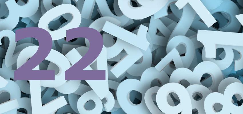 Numerologia 2017 – como será o ano para as pessoas do número 22