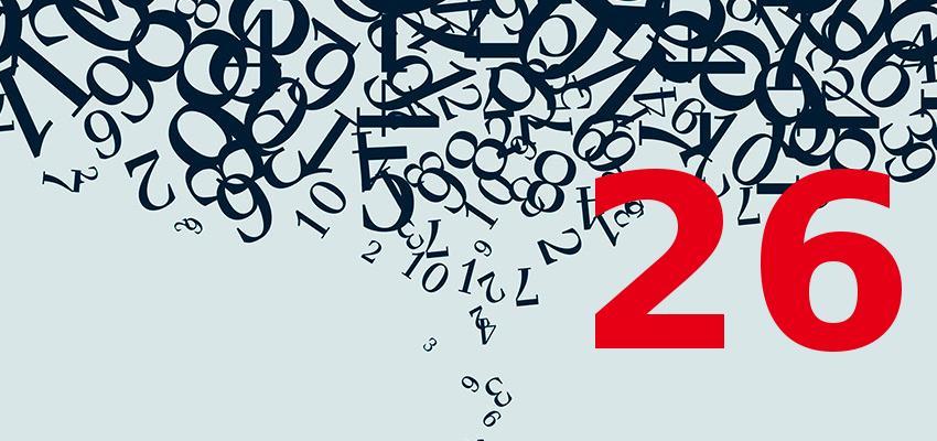 Numerologia – descubra a personalidade de quem nasce no dia 26