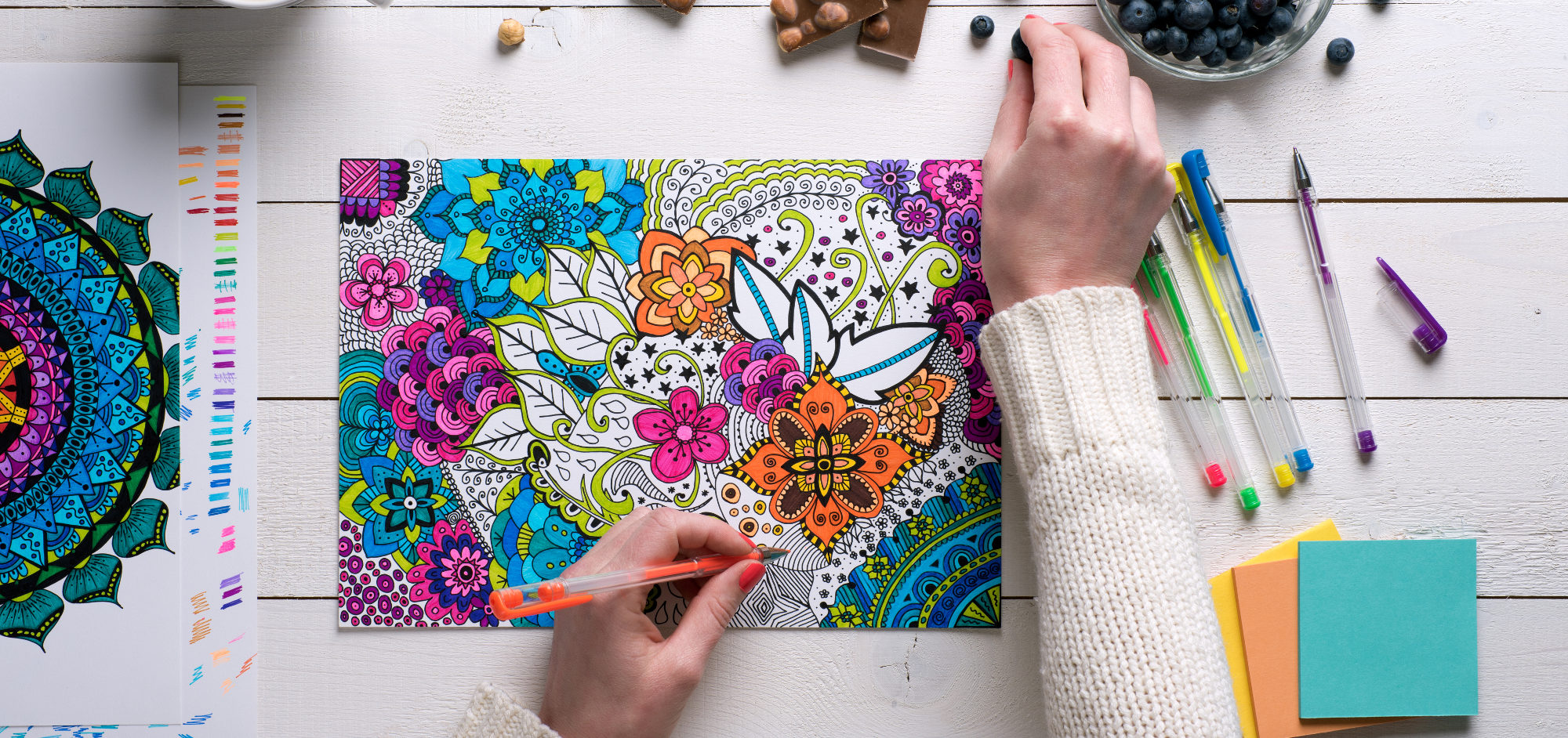Livros De Colorir Para Adultos: 5 Benefícios Incríveis Dos Livros De Colorir Para Adultos