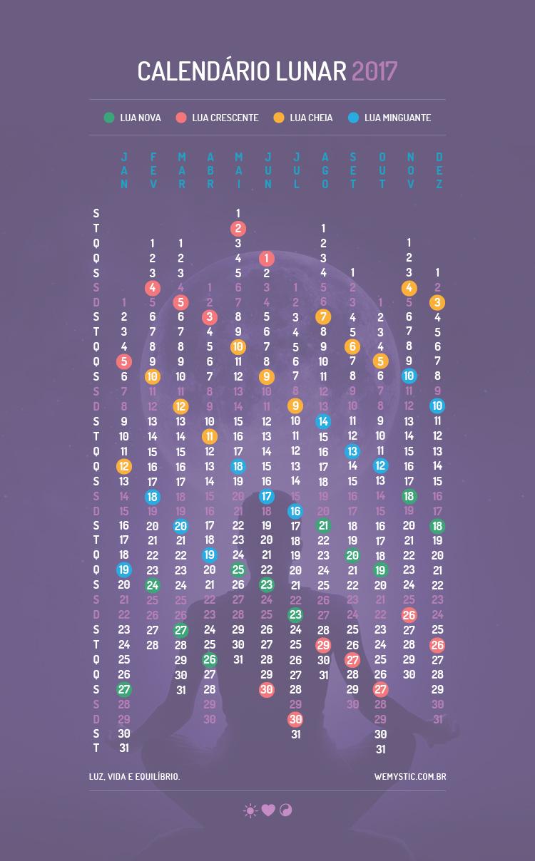 Calend rio lunar para 2017 os acontecimentos que v o for Almanaque lunar 2017