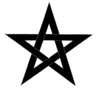 Símbolos de bruxaria - pentagrama