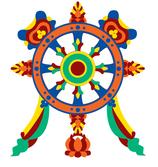 Símbolos budistas - roda do Dharma