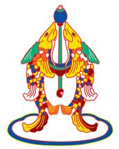 Símbolos budistas - peixes dourados