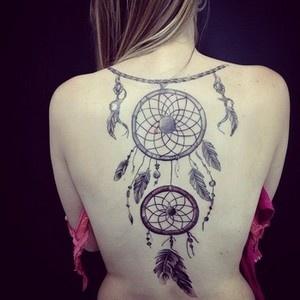 significados das tatuagens - tatuagem de apanhador de sonhos